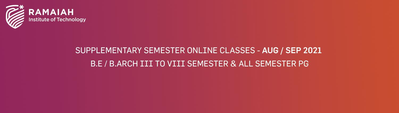 Supplementary Semester Aug Sep 2021